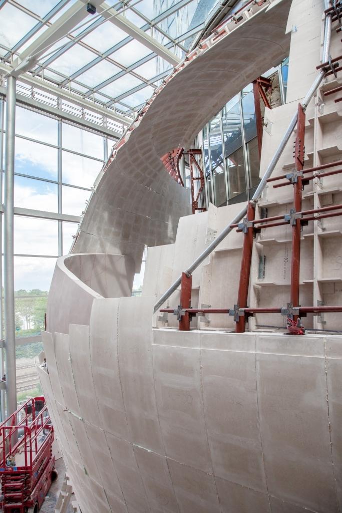 Konstruktion Eingangs- und Foyerbereich im Milleniumtower
