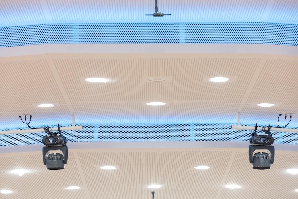 Hörsaal P1 Tu Graz Gipsplatten Decke