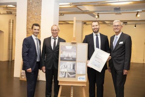 """2. Platz Trockenausbau:  Friedrich Kletzenbauer Trockenbau GmbH - """"Geschäfts- und Wohngebäude"""""""